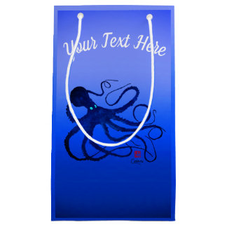 Sybille's Octopus On Blue - Small Gift Bag