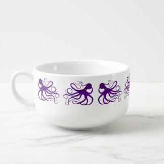 Sybille's Octopus Purple - Soup Mug