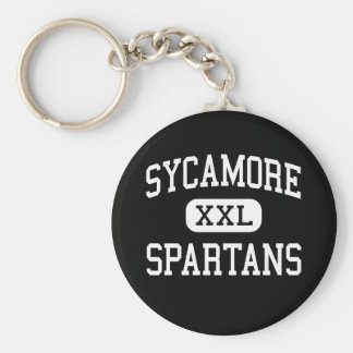 Sycamore - Spartans - High - Sycamore Illinois Keychain