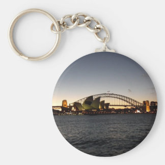 Sydney at Dusk Basic Round Button Keychain
