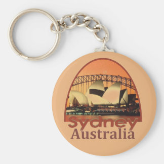 SYDNEY Australia Basic Round Button Keychain