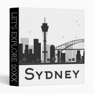 Sydney, Australia | Black & White City Skyline Binders