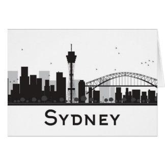 Sydney, Australia | Black & White City Skyline Card