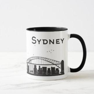 Sydney, Australia | Black & White City Skyline Mug