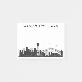 Sydney, Australia | Black & White City Skyline Post-it Notes