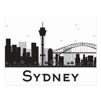 Sydney, Australia | Black & White City Skyline Postcard