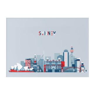 Sydney Australia City Skyline Acrylic Wall Art