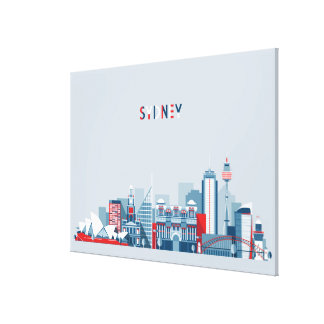 Sydney Australia City Skyline Canvas Print