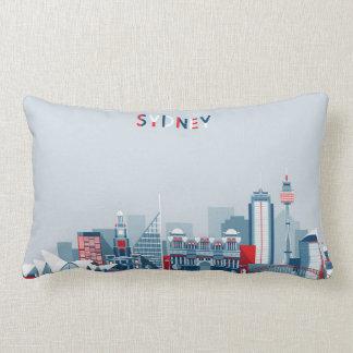 Sydney Australia City Skyline Lumbar Pillow