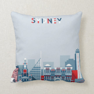 Sydney Australia City Skyline Throw Pillow