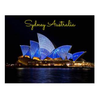 sydney Australia night time Postcard