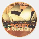 SYDNEY Australia Round Sticker