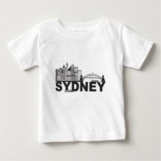 Sydney Australia Sklyine Text Outline Baby T-Shirt