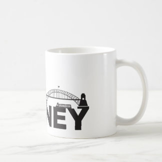 Sydney Australia Sklyine Text Outline Coffee Mug