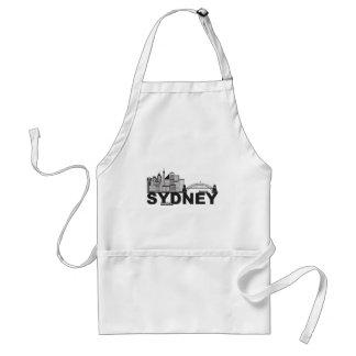 Sydney Australia Sklyine Text Outline Standard Apron