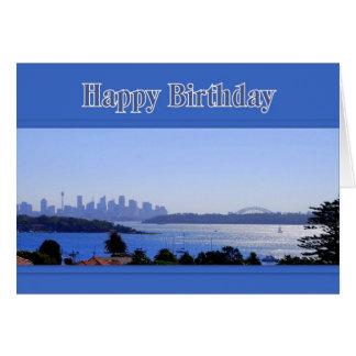 Sydney, Australia, Skyline Happy Birthday Card