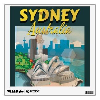 Sydney,Australia vintage travel poster Wall Sticker