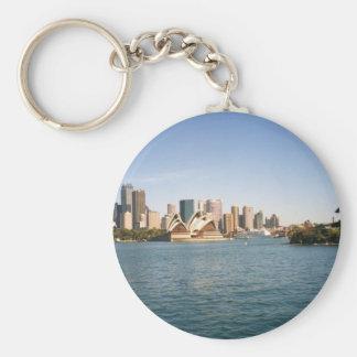 Sydney Basic Round Button Keychain