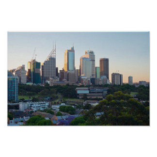 Sydney Business Center Skyscrapers Poster