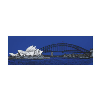 Sydney by night canvas print