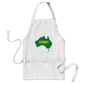 Sydney Green and Gold Map Standard Apron