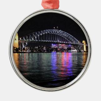 Sydney Harbor Bridge at Night Metal Ornament