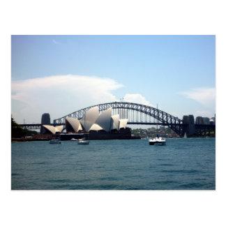 sydney harbour aust postcard