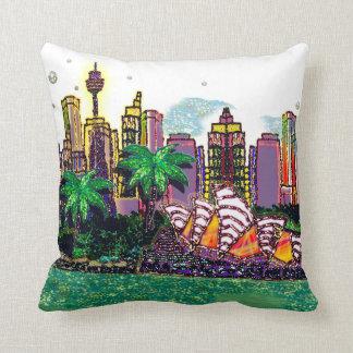 Sydney Harbour Australia by Sequin Dreams Studio Throw Pillow