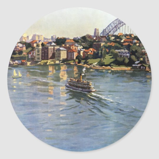 Sydney Harbour, Australia Classic Round Sticker