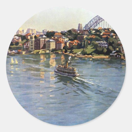 Sydney Harbour, Australia Round Sticker