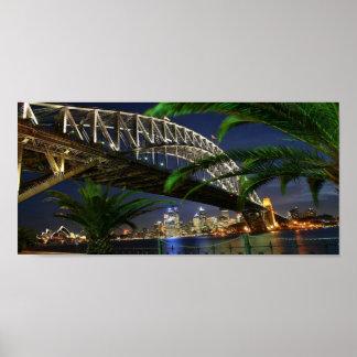 Sydney Harbour Bridge at Night Poster