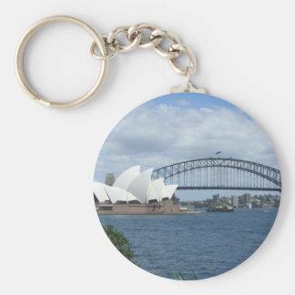 Sydney Harbour Key Ring Basic Round Button Keychain