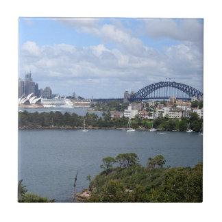 Sydney Harbour Skyline Tile
