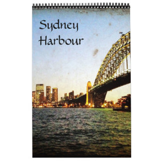 sydney harbour views wall calendars