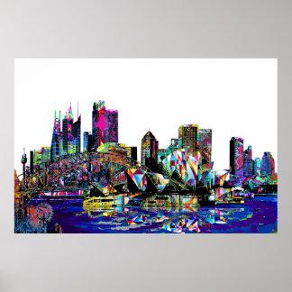 Sydney in graffiti poster