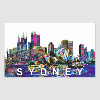 Sydney in graffiti sticker