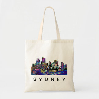 Sydney in graffiti tote bag