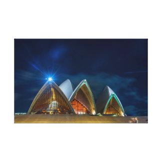 Sydney Opera at night Canvas Print