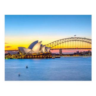 Sydney Opera at sunset Postcard