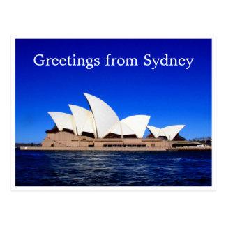 sydney opera blue postcard