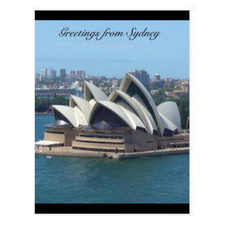 sydney opera greetings postcard