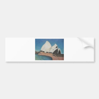 Sydney Opera House 2009, Acrylic on Canvas 31cm by Bumper Sticker