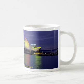 Sydney Opera House and harbor at dawn, New South W Coffee Mug