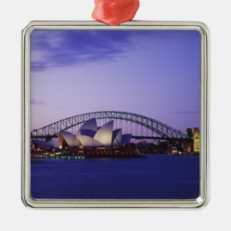Sydney Opera House and Harbour, New South 2 Metal Ornament