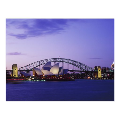 Sydney Opera House and Harbour, New South 2 Postcards