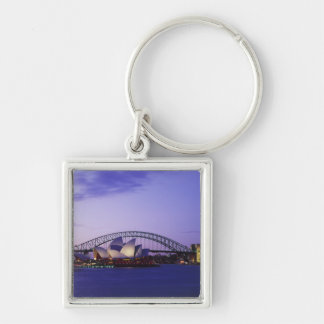 Sydney Opera House and Harbour, New South 2 Silver-Colored Square Keychain