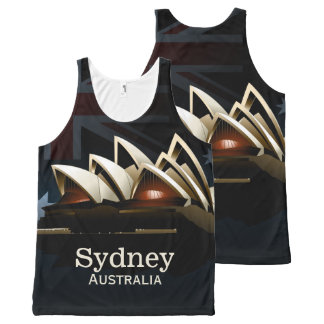 Sydney opera house at night All-Over-Print tank top