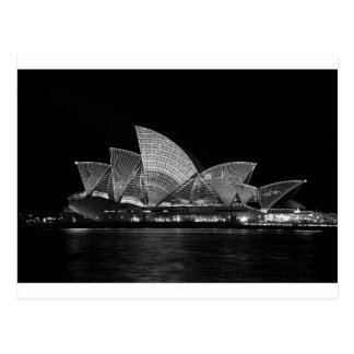 Sydney Opera House at Night Australia Postcard