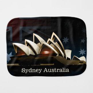 Sydney opera house at night burp cloth