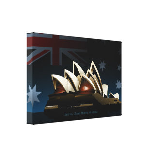 Sydney opera house at night canvas print